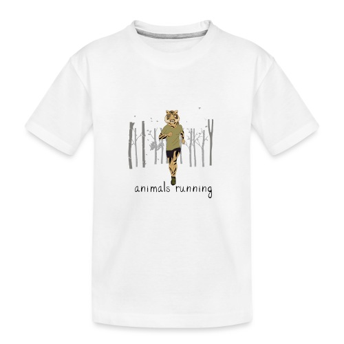 Tigre running - T-shirt bio Premium Ado
