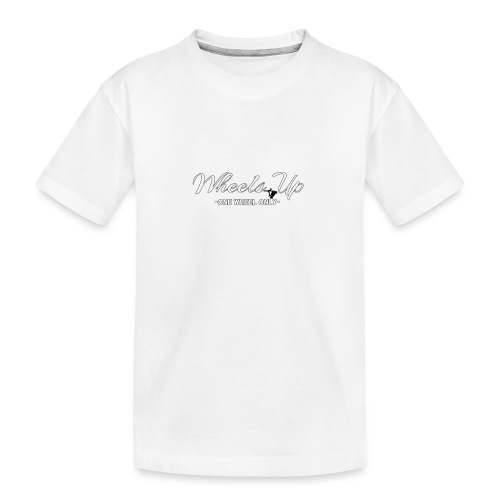 wheels up black figure - Teenager Premium Organic T-Shirt