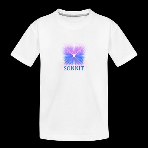 Sonnit Blue Transform Pack, FADING SQUARE - Teenager Premium Organic T-Shirt