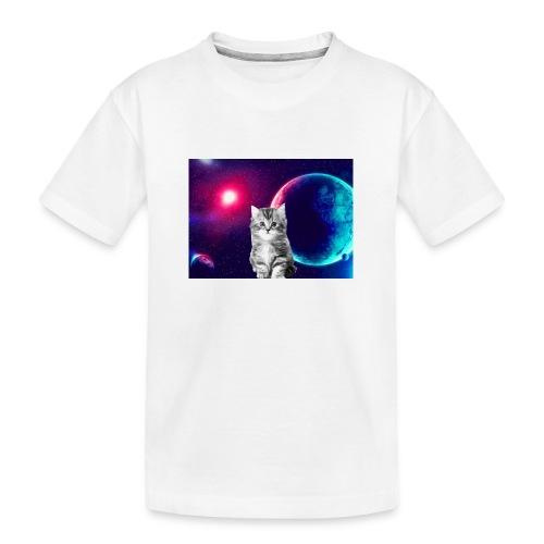 Cute cat in space - Teinien premium luomu-t-paita