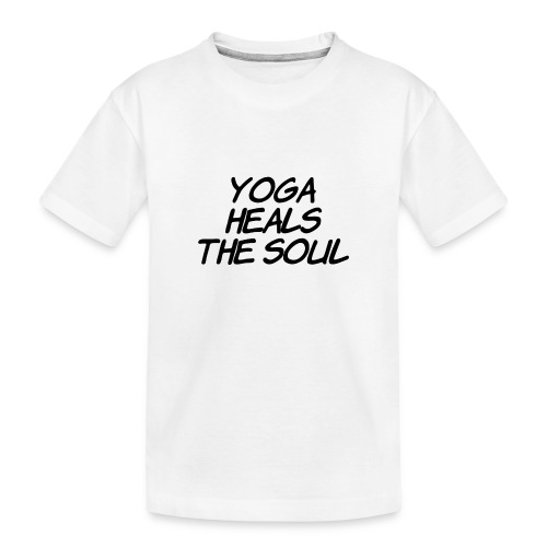 yoga - Teenager premium biologisch T-shirt