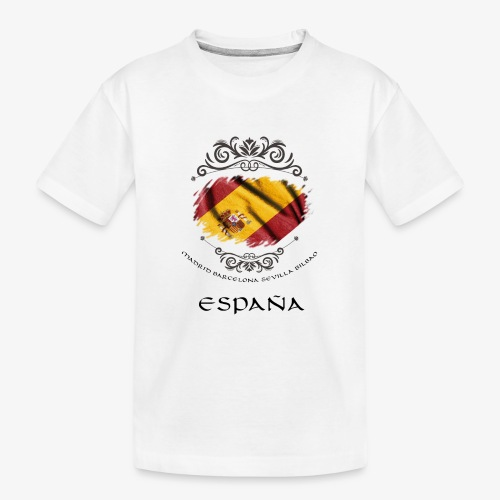 Spain Vintage Flag - Teenager Premium Bio T-Shirt