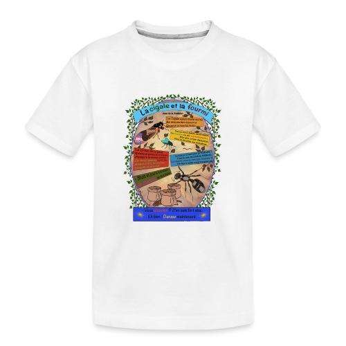 La Cigale et la Fourmi (Jean de la Fontaine) - Teenager Premium Bio T-Shirt