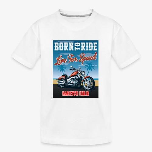 Summer 2021 - Born to ride - Maglietta ecologica premium per ragazzi