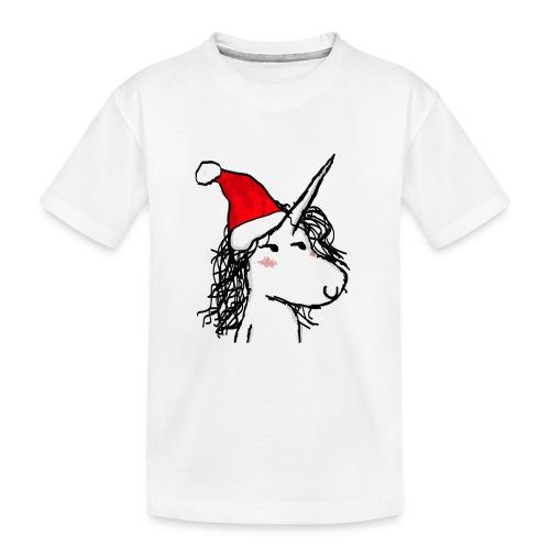 unicorno Natale - Maglietta ecologica premium per ragazzi