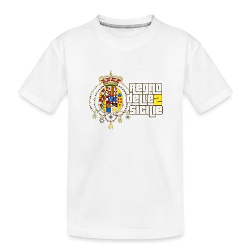 regno delle 2 sicilie testo bianco - Maglietta ecologica premium per ragazzi