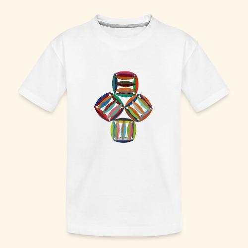 square2square - Teenager premium biologisch T-shirt