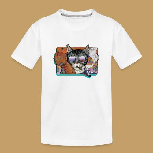Crime Cat in Shades - Ekologiczna koszulka młodzieżowa Premium