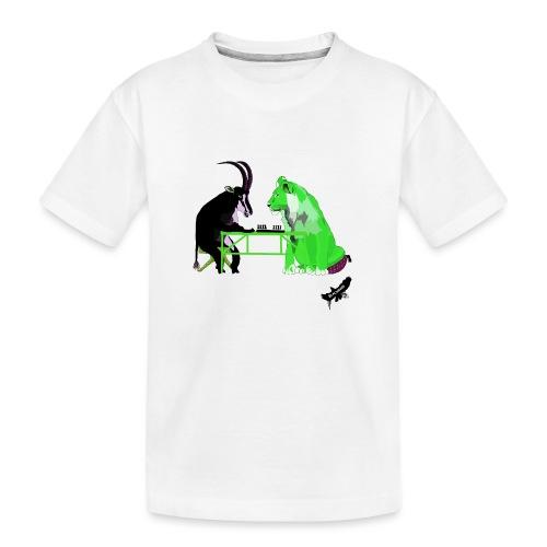 Playing Senet by BlackenedMoonArts, green w. logo - Teenager premium T-shirt økologisk