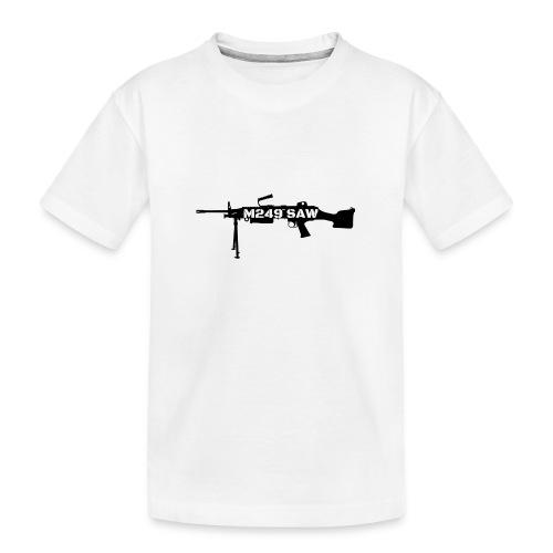 M249 SAW light machinegun design - Teenager premium biologisch T-shirt