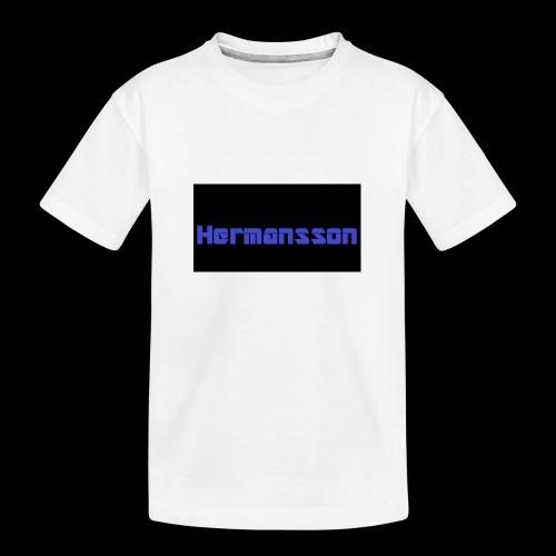 Hermansson Blå/Svart - Ekologisk premium-T-shirt tonåring