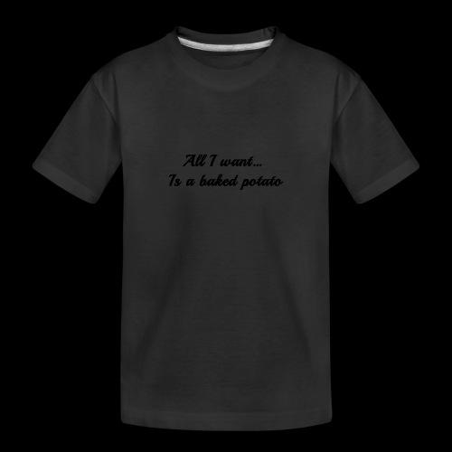 Baked potato - Teenager Premium Organic T-Shirt