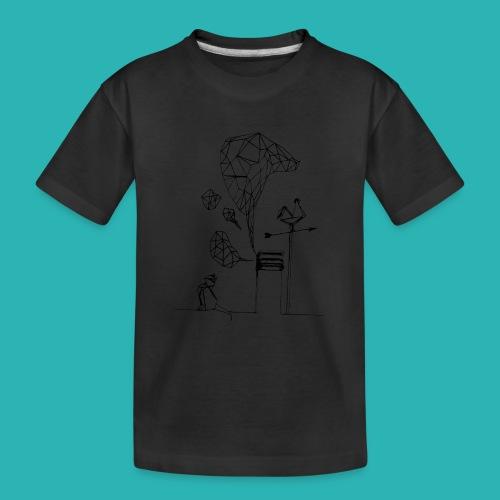 Carta_gatta-png - Maglietta ecologica premium per ragazzi