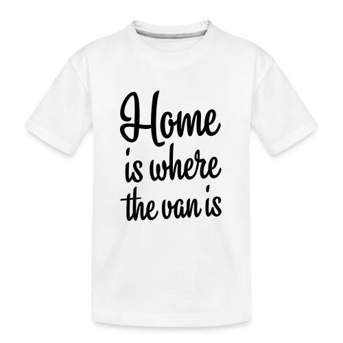 camperhome01b - Premium økologisk T-skjorte for tenåringer