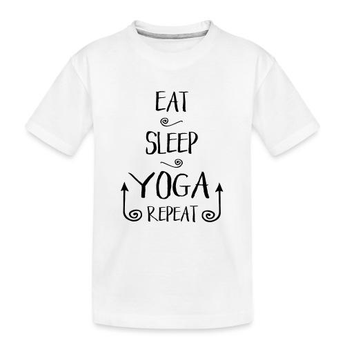 Eat Sleep Yoga - Teenager Premium Bio T-Shirt