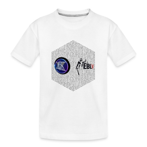 disen o dos canales cubo binario logos delante - Teenager Premium Organic T-Shirt