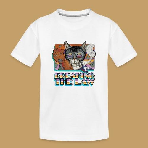 Crime Cat- Breaking the Law - Ekologiczna koszulka młodzieżowa Premium