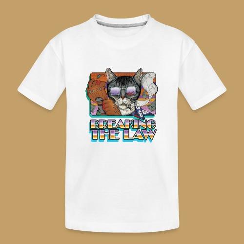 Crime Cat in Shades - Braking the Law - Ekologiczna koszulka młodzieżowa Premium