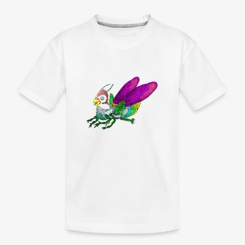 Chicken-Hopper - Teenager premium biologisch T-shirt