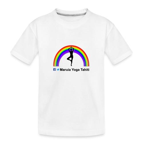 Logo de Maruia Yoga Tahiti - T-shirt bio Premium Ado