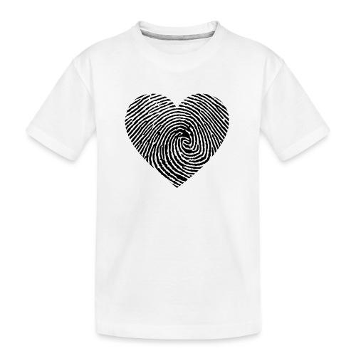 cœur emprunte - T-shirt bio Premium Ado