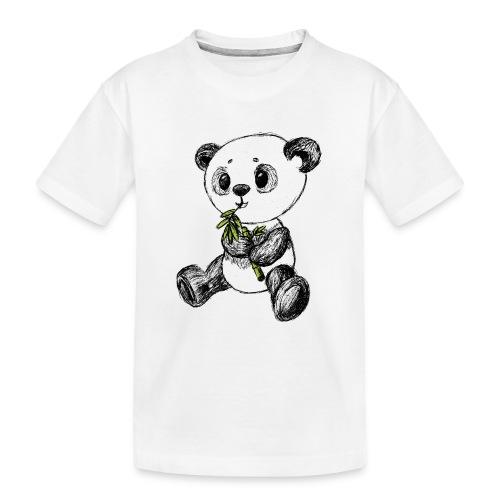 Panda bjørn farvet scribblesirii - Teenager premium T-shirt økologisk