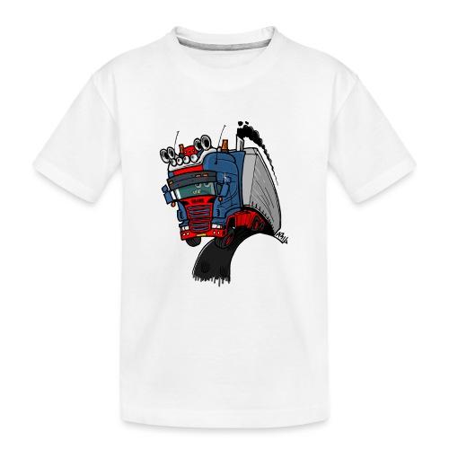 The flying skane man notext - Teenager premium biologisch T-shirt