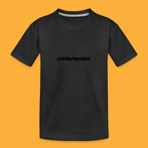 DJATODOCOLOR LOGO NEGRO - Camiseta orgánica premium adolescente