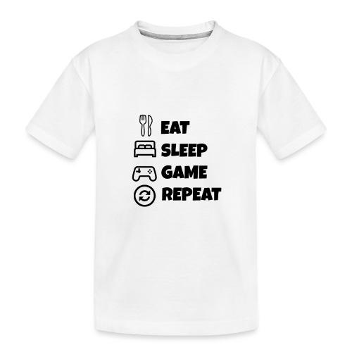 EAT/SLEEP/GAME/REPEAT - Teenager Premium Organic T-Shirt