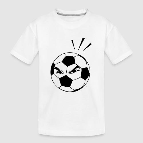 energischer Fußball - Teenager Premium Bio T-Shirt