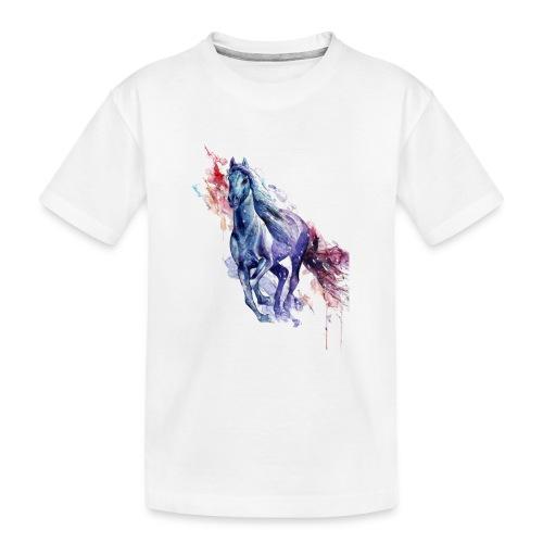 Cute horse shirt - Teenager premium T-shirt økologisk