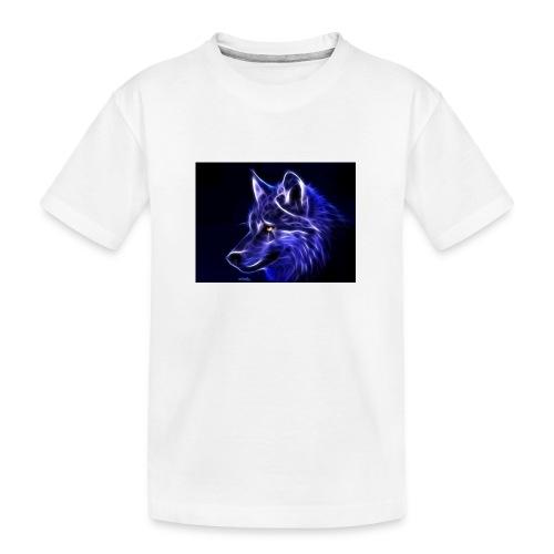 jeff wolf - Premium økologisk T-skjorte for tenåringer