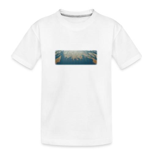 Jyrsijät - väri - Teinien premium luomu-t-paita