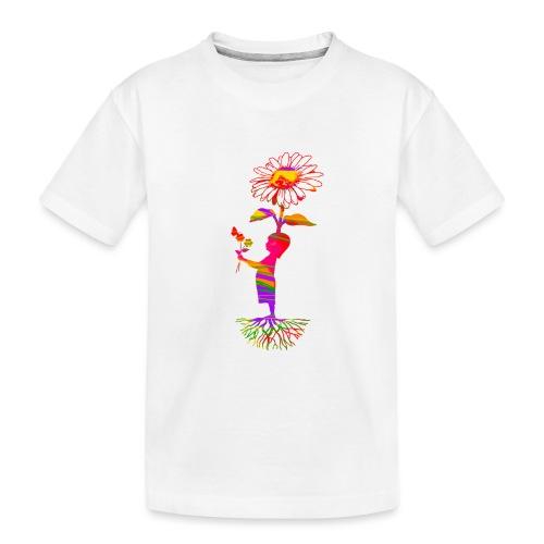 bloemenkind - Teenager premium biologisch T-shirt