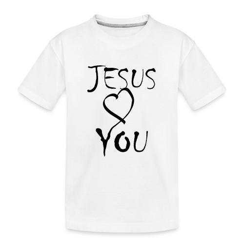 jesus loves you - Teenager Premium Bio T-Shirt