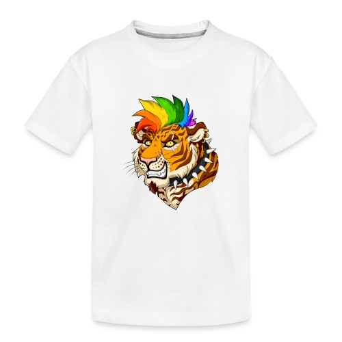 Punk Tiger - Ekologiczna koszulka młodzieżowa Premium