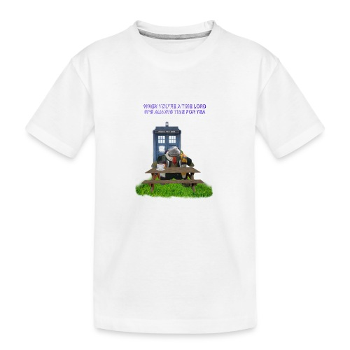TIME AND SPACE AND TEA - Teenager Premium Organic T-Shirt
