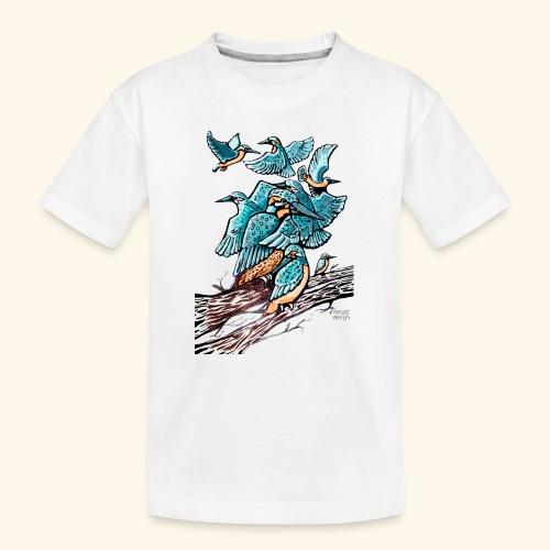 Eisvogel Rudel - Teenager Premium Bio T-Shirt