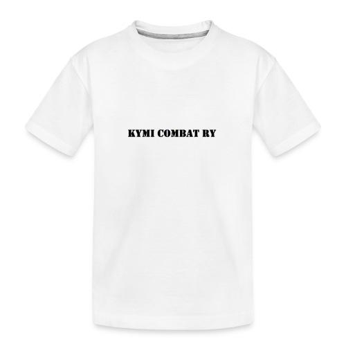 kc musta teksti transparent png - Teinien premium luomu-t-paita