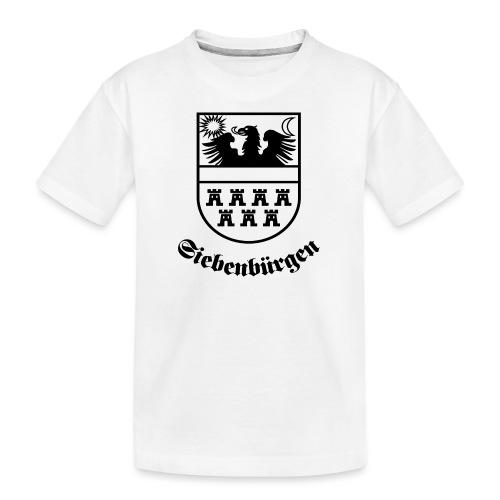 Siebenbürgen-Wappen Siebenbürgen sw - Teenager Premium Bio T-Shirt