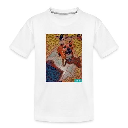 Foxy in kleur - Teenager premium biologisch T-shirt