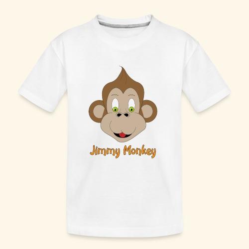 monkey green eyes - T-shirt bio Premium Ado
