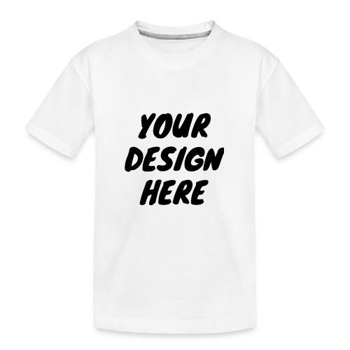 print file front 9 - Teenager Premium Organic T-Shirt