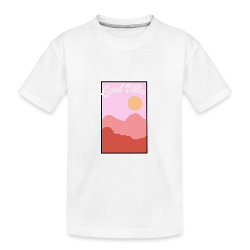 Good vibes - Teenager premium biologisch T-shirt