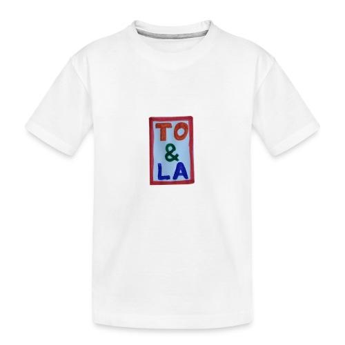 TO & LA - Ekologiczna koszulka młodzieżowa Premium