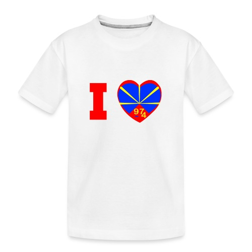I love 974 - Lo Mahaveli - T-shirt bio Premium Ado