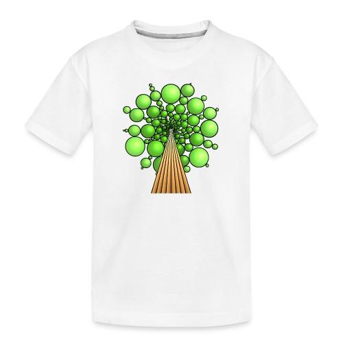 Kugel-Baum, 3d, hellgrün - Teenager Premium Bio T-Shirt