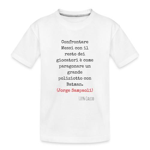 maglia 110 messi png - Maglietta ecologica premium per ragazzi