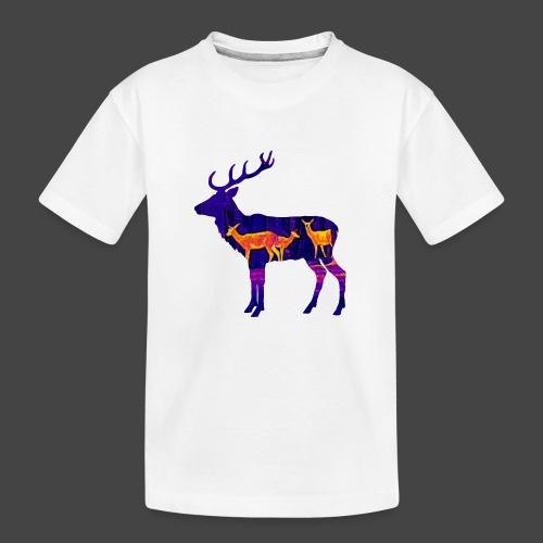 Wärmebildhirsch-Pixel-Shirt für Jäger - Teenager Premium Bio T-Shirt