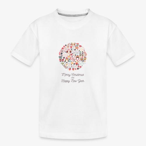 Merry Christmas and Happy New Year - Teenager Premium Organic T-Shirt